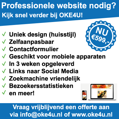 OKE4U flyer m.b.t. actie website